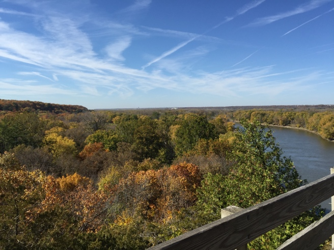 The view of the Illinois River - from the top of Starved Rock.